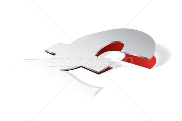 Paper folding with Pound symbol in perspective view Stock photo © archymeder