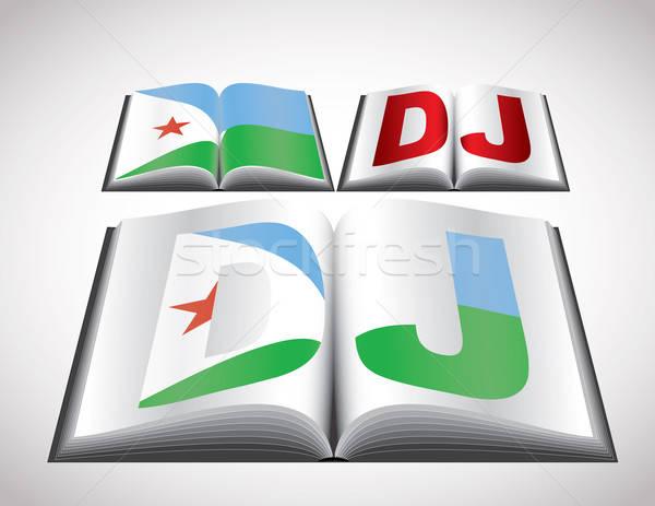 Banderą Dżibuti wektora format książki Zdjęcia stock © archymeder