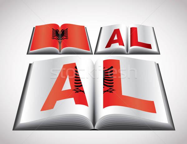Bandeira Albânia vetor formato livro Foto stock © archymeder