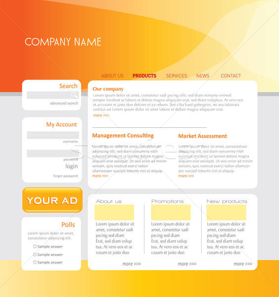 Simple sitio web plantilla vector formato Foto stock © archymeder