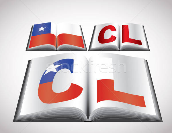 National Flag concept of Chile Stock photo © archymeder