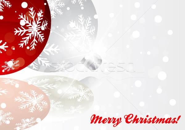 Navidad saludo cubrir vector formato Foto stock © archymeder