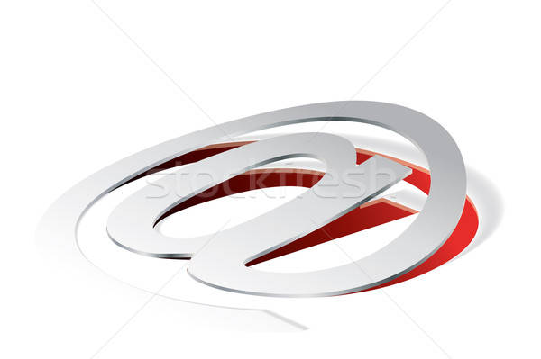 Paper folding with @ symbol in perspective view Stock photo © archymeder