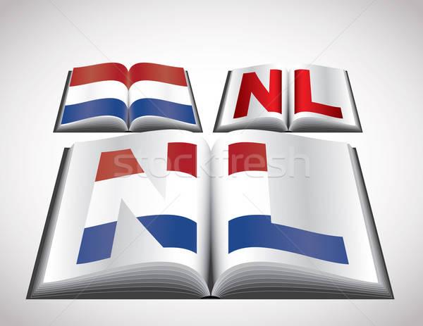 Bandera Países Bajos vector formato libro Foto stock © archymeder