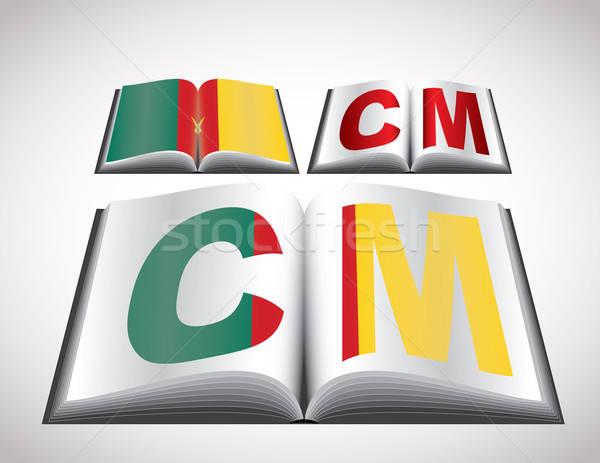 Bandeira Camarões vetor formato livro Foto stock © archymeder