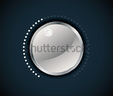 Volume button (music knob) with metal texture Stock photo © archymeder