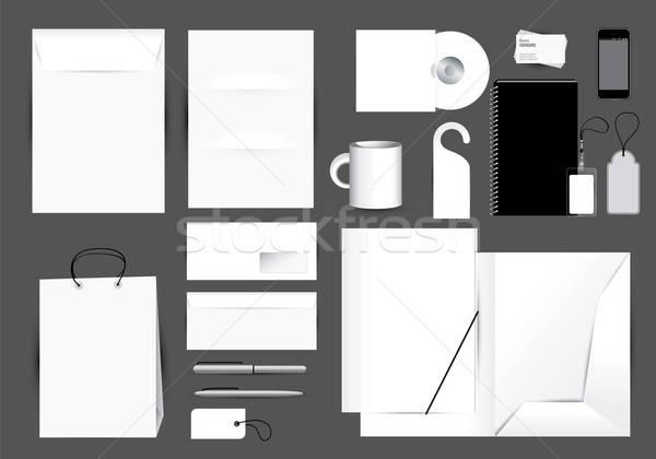 Blank stationery design set Stock photo © archymeder