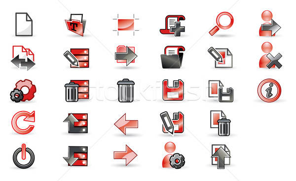 Icons set for apps Stock photo © archymeder