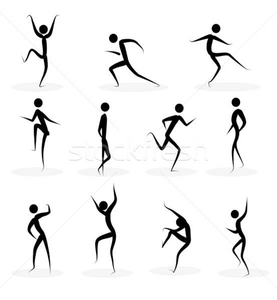 Abstract people silhouettes Stock photo © archymeder