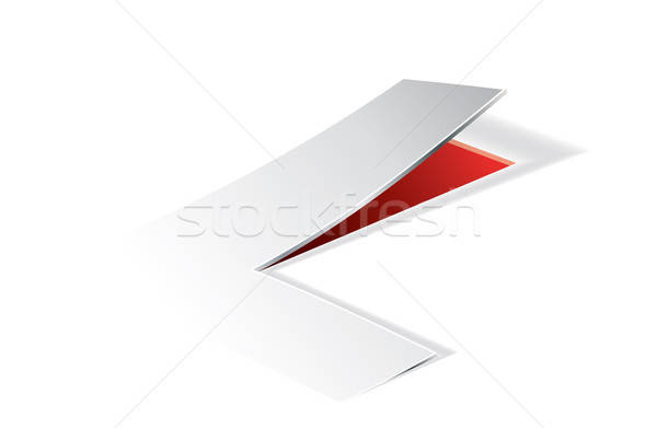 Paper folding with letter L in perspective view Stock photo © archymeder