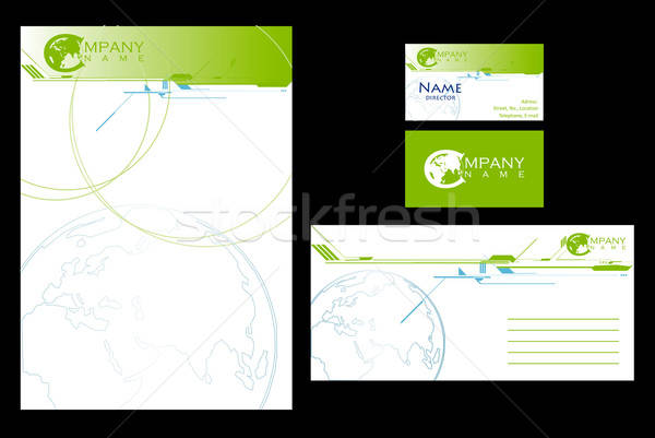 Stock photo: Simple stationary design