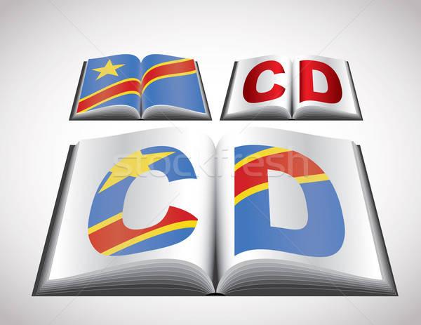 Bandera democrático república Congo vector Foto stock © archymeder