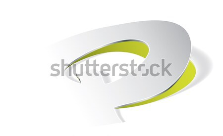 Paper folding with letter Q in perspective view Stock photo © archymeder