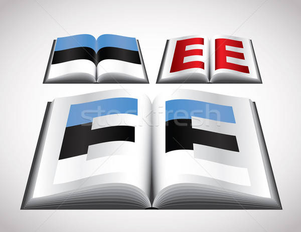 National Flag concept of Estonia Stock photo © archymeder