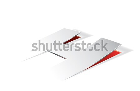 Paper folding with letter U in perspective view Stock photo © archymeder