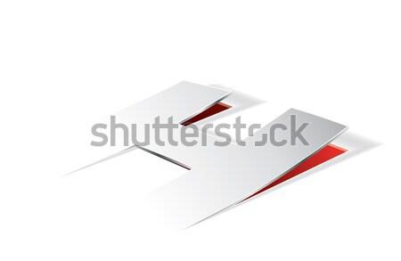 Stockfoto: Papier · brief · perspectief · vector