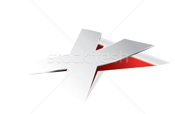 Paper folding with letter X in perspective view Stock photo © archymeder