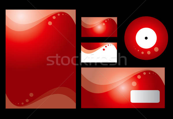 Red stationary design  Stock photo © archymeder