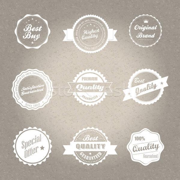 Vintage estilo insignias vector formato Foto stock © archymeder