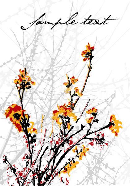 Decorativo árbol vector formato negocios Foto stock © archymeder
