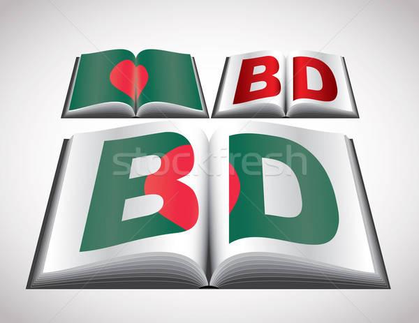 Vlag Bangladesh vector formaat boek Stockfoto © archymeder