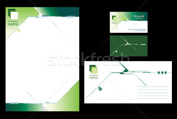 Green stationary design Stock photo © archymeder