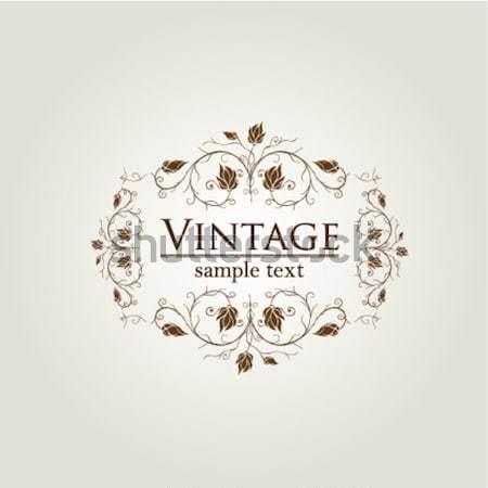 Real vintage diseno vector formato Foto stock © archymeder