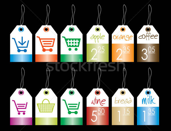 Colored simple sticker Stock photo © archymeder