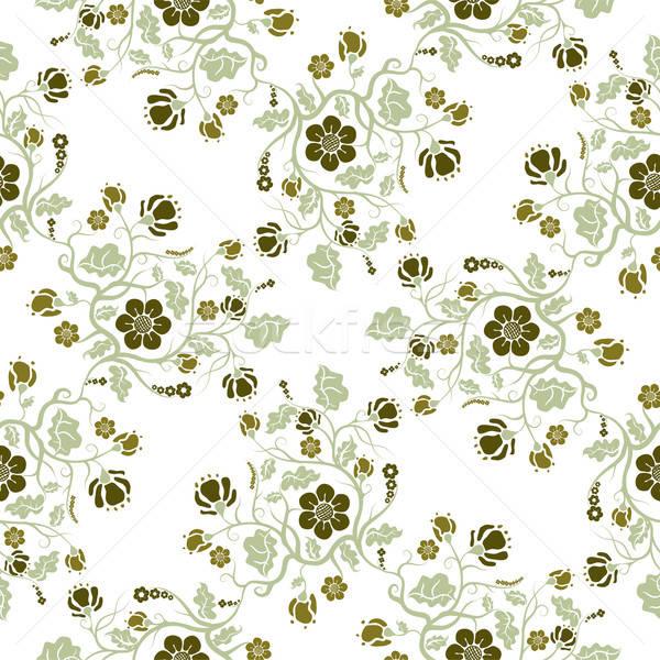Resumen floral patrón vector formato Foto stock © archymeder