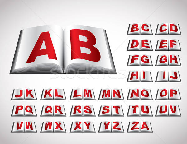 Alphabet concept in book Stock photo © archymeder