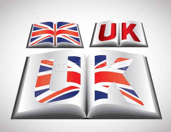 Bandiera Regno Unito vettore formato libro Foto d'archivio © archymeder