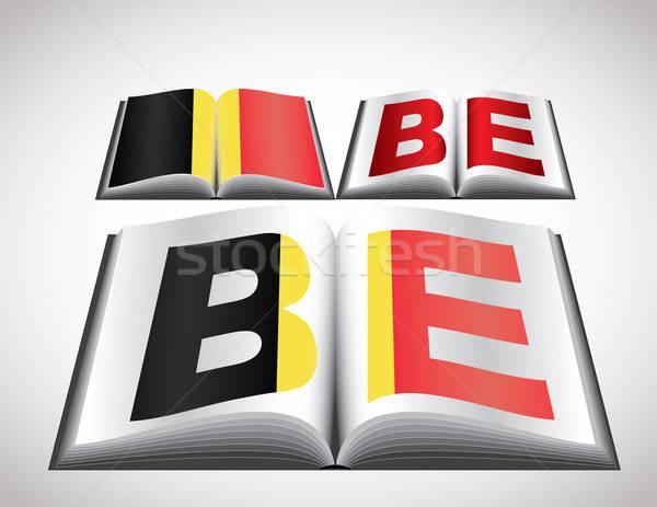 National Flag concept of Belgium Stock photo © archymeder
