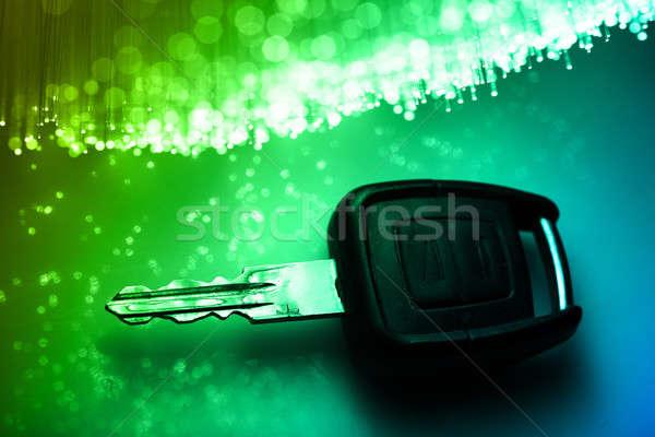 Włókno optyka świetle domu technologii Zdjęcia stock © arcoss