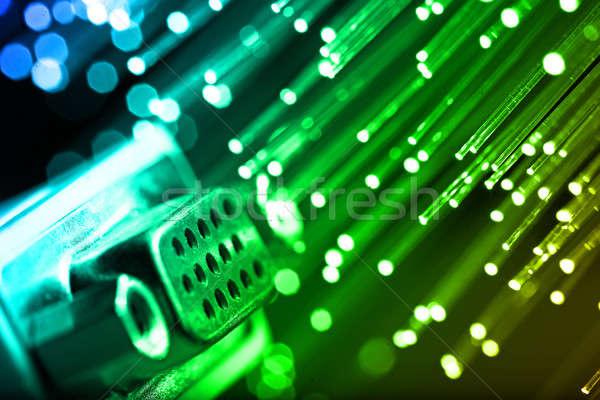 волокно оптика свет Места технологий контроля Сток-фото © arcoss