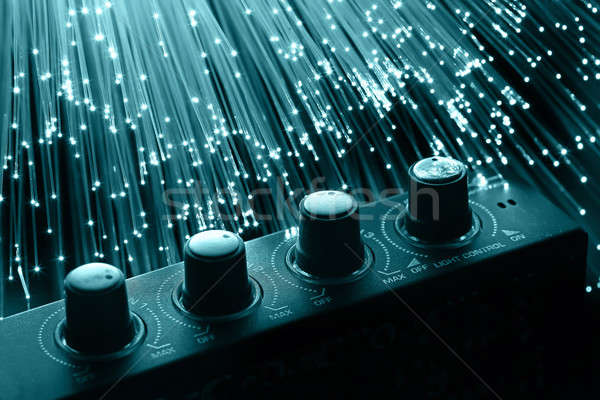 Fibra ottica luce corpo design Foto d'archivio © arcoss