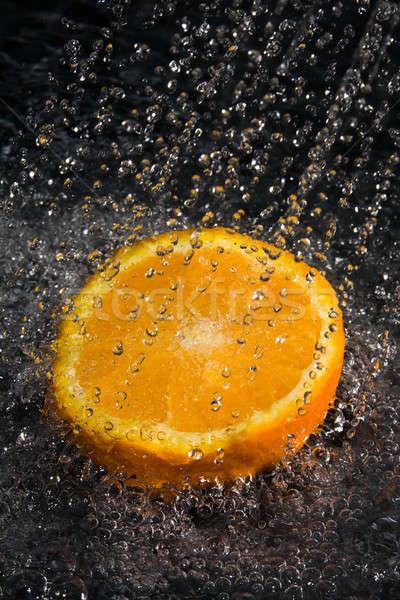 Gyümölcs víz friss gyümölcs vízcseppek természet egészség Stock fotó © arcoss