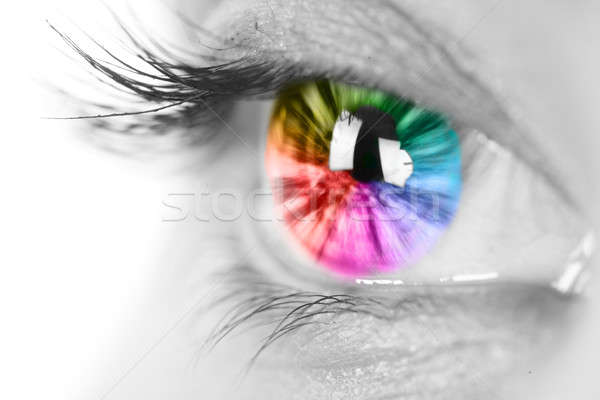 Colorful eye Stock photo © arcoss