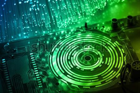 繊維 光学 光 斑 コンピュータ 抽象的な ストックフォト © arcoss