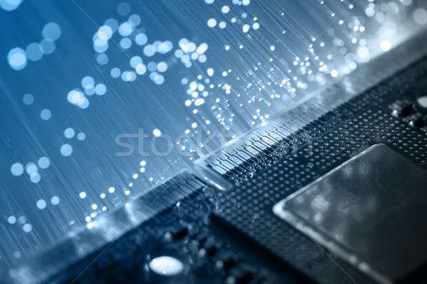 волокно оптика свет Места текстуры аннотация Сток-фото © arcoss
