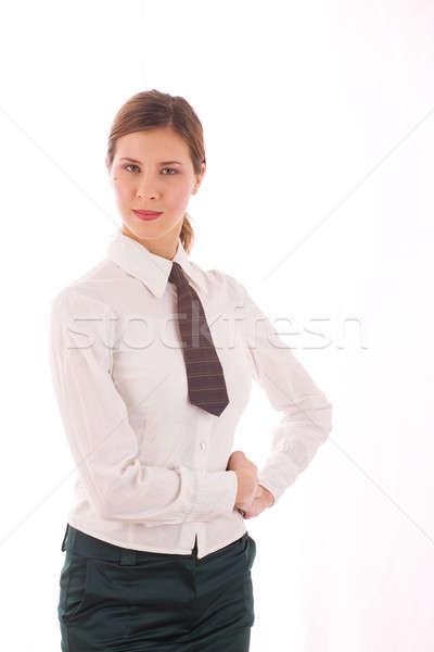 üzletasszony nő iroda boldog munka diák Stock fotó © arcoss