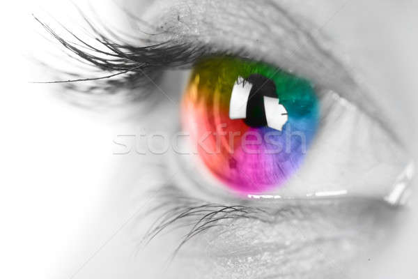 Colorful eye Stock photo © arcoss
