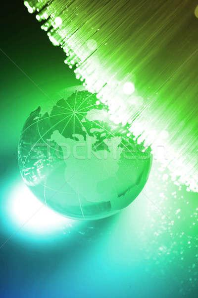 Faser optische Licht Spots abstrakten Design Stock foto © arcoss
