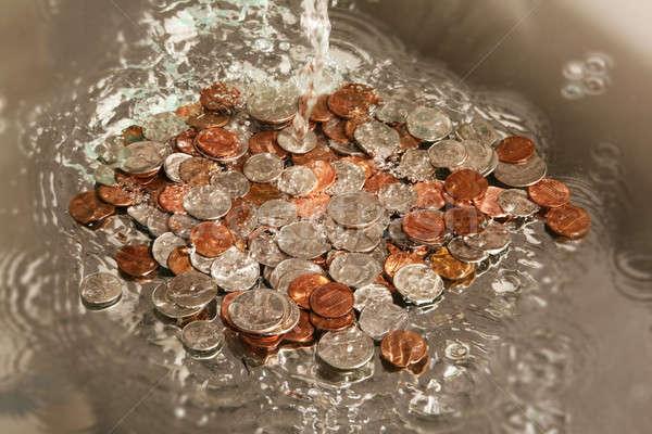 Business Himmel Wasser Metall Finanzierung Stock foto © arcoss
