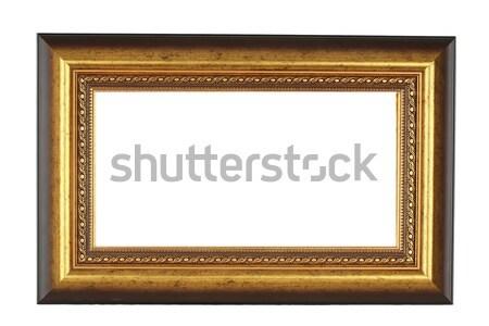 Stockfoto: Vintage · goud · fotolijstje · textuur · muur · achtergrond