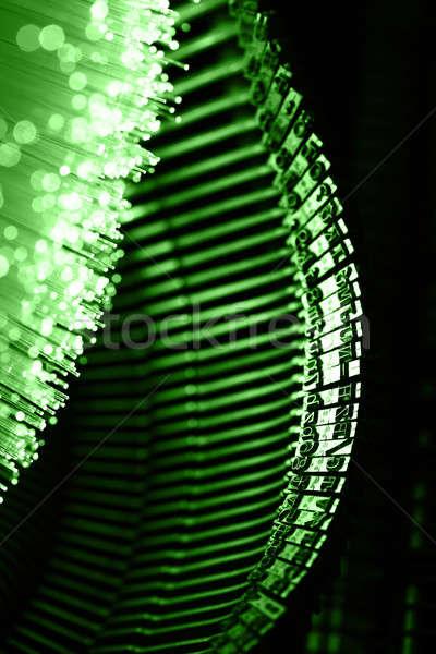 Stockfoto: Vezel · optica · licht · computer · kantoor