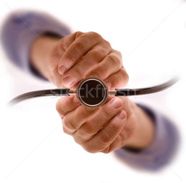 Stockfoto: Stethoscoop · geneeskunde · wetenschap · baan · stress · persoon