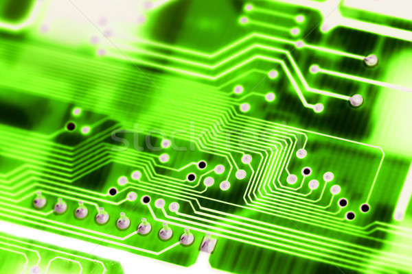 Abstract circuit board groene computer technologisch Stockfoto © arcoss