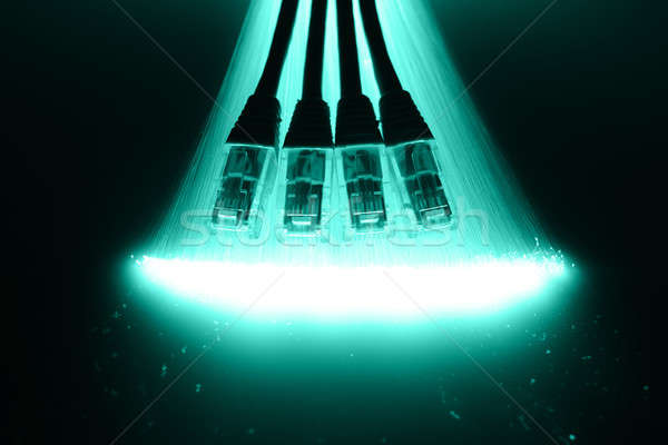 Fiber optics background with lots of light spots Stock photo © arcoss