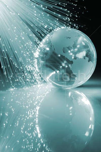 Fibra ottico fibra ottica luce Foto d'archivio © arcoss