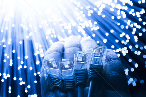 волокно оптика кабелей стороны интернет технологий Сток-фото © arcoss